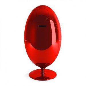 poubelle ovetto rouge
