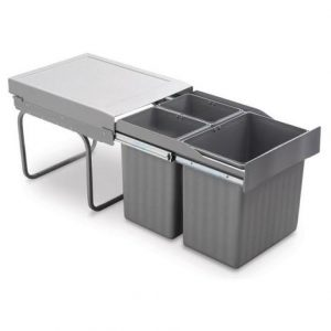 poubelle extraction manuelle 3 conteneurs