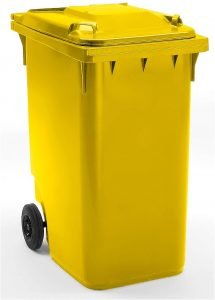 Conteneur à déchets 360 litres jaune