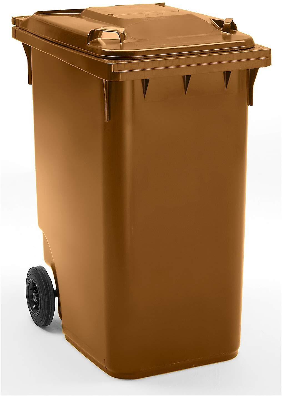 Conteneur à déchets 360 litres marron