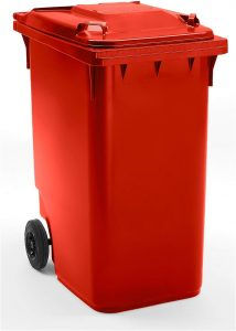 Conteneur à déchets 360 litres rouge